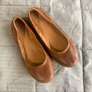 Lucky Brand Tan Emmie Leather Flats Sz 5.5